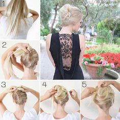 Messy French twist - I will have to try this!:)