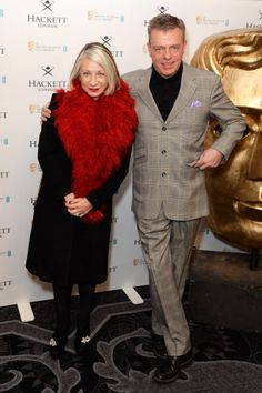 Bette Bright and Graham McPherson aka Suggs attends the Hackett BAFTA Fellow Lunch at The Savoy on February 15, 2014 in London, England. (Photo by Dave J Hogan/Getty Images) 2014 Dave J Hogan