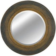 @Overstock - Make sure you look great all the time with this contemporary circular framed wall mirror. Made of wood and glass and featuring a dark gold finish, this mirror complements any style of decor, and its amazing design is sure to wow your guests.http://www.overstock.com/Home-Garden/Round-Framed-Dark-Gold-Wall-Mirror/5282048/product.html?CID=214117 $218.99