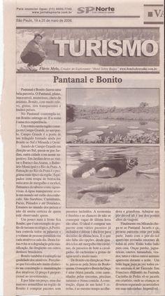 Pantanal e Bonito – Publicado em 25 de maio de 2006