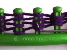 Different stitches on the round loom. by ammieiscool