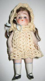 Antique all bisque doll house doll - Sondra Krueger Antiques #dollshopsunited