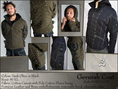 The Gevurah Canvas Coat is perfect if you're wanting to look like you came from a steampunk society while in the apocalypse. Wearing this coat, people'll know you're a badass and will stear clear from you.