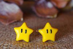 Super Mario Bros Super Star power up Cufflinks Jewellery. on Etsy, Cufflink Set, Super Star, Custom Labels, Super Mario Bros, Polymer Clay, Jewellery, Stars, Etsy, Jewels