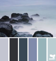 Blues ~ These Are The Colours I Want In My Bathroom One Day, Navy, Powder Blue And A Minty, Pastel Blue
