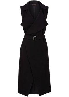 Посмотретьпрямо сейчас:  Модная, актуальная модель настоящего сезона. Длинный дизайн из нежно струящегося материала с ремнем и зажимом. Очень элегантный покрой в стиле блейзера с воротником и карманами спереди. Без застежки.