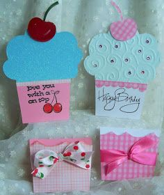 Well, I am excited to show these adorable little cupcakes I made with a Sizzix Bigz XL Die. And the best part is I bought this wonderfu...