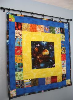 Learn the different ways to hang your small wall quilt.  The Sewing Loft