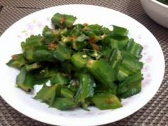 WINGED BEAN IN GARLIC AND SOY SAUCE