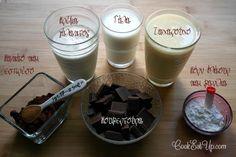 Παγωμένος σοκολατένιος κορμός, μωσαϊκό, χωρίς βούτυρο. Ένας ανελέητος πειρασμός! ⋆ Cook Eat Up! Sweet Recipes, Glass Of Milk, Pudding, Chocolate, Eat, Cooking, Desserts, Food, Cucina