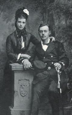 Empress Maria Feodorovna of Russia and her brother Waldemar.