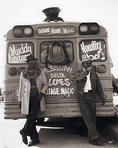 Muddy Waters and Howlin' Wolf #Blues #Photo