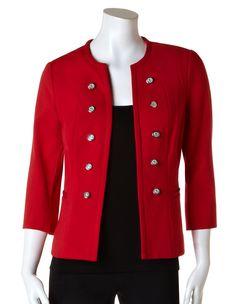 Poppy Red Military Blazer