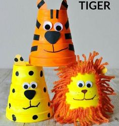 This adorable foam cup tiger craft is really simple to make and kids will love playing with it afterwards. Fun animal crafts for kids summer kids crafts zoo crafts for kids lion craft cheetah craft preschool crafts and crafts made from cups. Animal Crafts For Kids, Summer Crafts For Kids, Toddler Crafts, Preschool Crafts, Diy For Kids, Summer Kids, Lion Kids Crafts, Diy Crafts, Kids Arts And Crafts