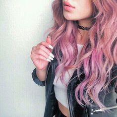 Gorgeous pink hair