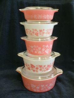vintage Pyrex - Pink Gooseberry