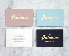 The Palomar Restaurant identity by Here Design