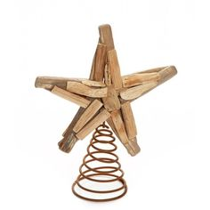 Home Accents Christmas By The Shore Driftwood Star Tree Topper ($24) ❤ liked on Polyvore featuring home, home decor, holiday decorations, nature tan, christmas tree star topper, christmas home decor, christmas tree toppers, driftwood home decor and christmas holiday decor