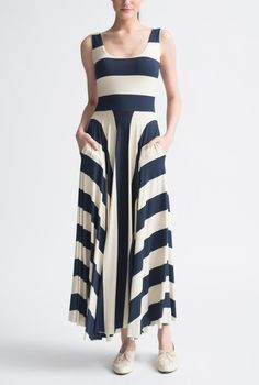 Stripe Tank 3/4 Dress by Nadia Tarr