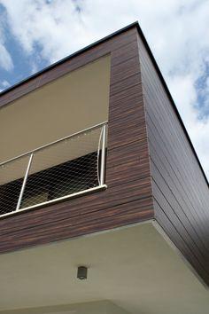 Particolare rivestimento villa a Paratico - architettura