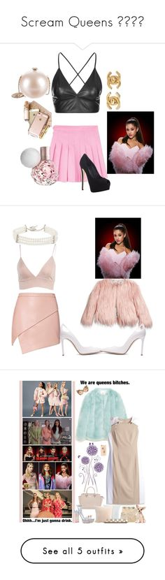 """Scream Queens ❤️💮♀"" by angiemoonlightbae ❤ liked on Polyvore featuring fillers, scream queens, words, phrase, quotes, saying, text, dresses, sets and skirts"