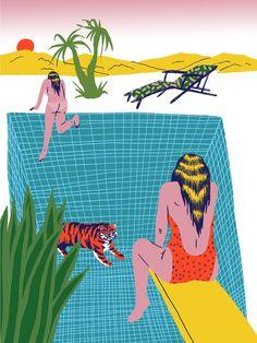 VO | Valérie Oualid : Agent d'illustrateurs | Ludwick Hernandez | L'été Surfboard, Surfing, Graphic Design, Artist, Illustrations, Artists, Illustration, Surfboards, Surf