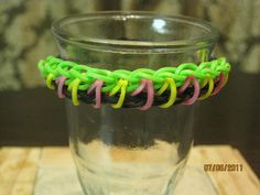 1 of 2... 2 pin bars bracelet made by Choon... ( I put link here which leads to the Rainbow Loom Site Tutorials... Ruste :~)