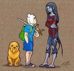 Jake, Finn and Marceline by *massgrfx on deviantART