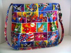 Medium Bag  Made of DC Comics / Super Hero Fabric  by fromnancy