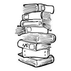 Pile Of Books, Stack Of Books, Funky Fonts, Doodle Books, Doodle Lettering, Hand Lettering, Book Drawing, Drawing Ideas, Doodle Designs