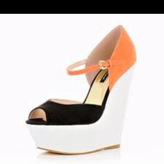 Color block wedges. Love these colors :)
