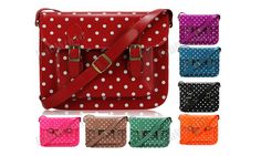 photos of retro purses with polka dots | ... with polka dots pattern on both sides fully lined in satin adjustable