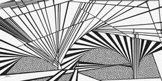 albert - Dynamic black and white optical obsession, organic abstract by Douglas Christian Larsen, homage and tribute to Albert Einstein - http://fineartamerica.com/featured/albert-douglas-christian-larsen.html