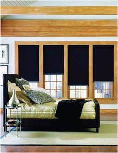 Keep the sun out completely with our Sheerweave 7000 series blackout shades. These are easy to install and provide total sunlight blockage. Room Darkening Shades, Contemporary Windows, Condo Bedroom, Blackout Shades, Budget Blinds, Home Furnishing Stores, Solar Shades, Custom Shades, Custom Window Treatments