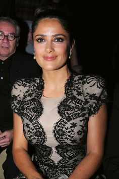 Salma Hayek Photos - Salma Hayek attends the Alexander McQueen Ready to Wear Spring/Summer 2011 show during Paris Fashion Week on October 2010 in Paris, France. Types Of Plastic Surgery, That Way, That Look, Selma Hayek, Deep Winter, Make Time, Alexander Mcqueen, Ready To Wear, Spring Summer