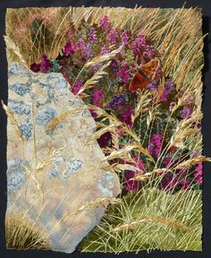 Heather, Golden Grasses and Fritillary