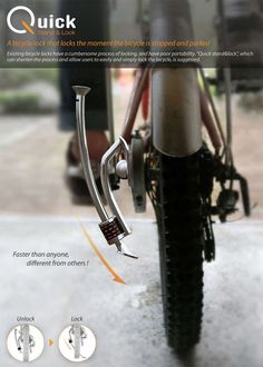 Kick Stand Bike Locks - The Quick Stand Lock is Secure and Convenient (GALLERY)