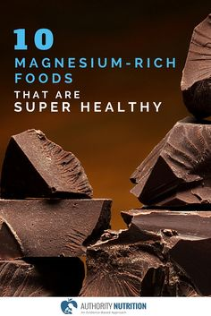 Magnesium is a very important nutrient that most people don't get enough of. Here are 10 super healthy foods that are high in magnesium: https://authoritynutrition.com/10-foods-high-in-magnesium/