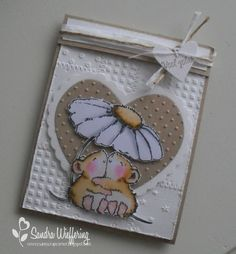Made by Sandra: Good luck! Penny Black Cards, Penny Black Stamps, Card Making Inspiration, Making Ideas, Hunkydory Crafts, Scrapbooking, Wedding Anniversary Cards, Paper Hearts, Animal Cards