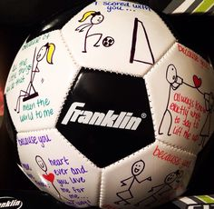 """My version of """"why you're a great catch"""" ...""""I scored with you because..."""" #boyfriendideas #soccer #cute #boyfriend"""