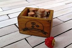 Dollhouse Miniature wooden crate 1 12 dollhouse by DewdropMinis Dollhouse Accessories, Garden Accessories, Shipping Crates, New Pins, Dollhouse Furniture, Vintage Dolls, Dollhouse Miniatures, Toy Chest, Hand Stamped