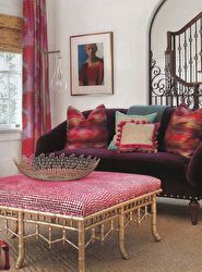 Sabine Floor Lamp from Arteriors Home as seen in Traditional Home magazine Traditional Home Magazine, Traditional Decor, Traditional House, Samuel And Sons, Woven Shades, Velvet Couch, Passementerie, Southern Homes, Window Styles