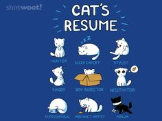 Abstract Artist...  cat's resume t-shirt by fablefire