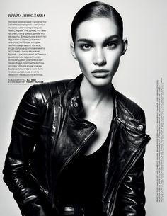 """Hey Girls"" Vogue Russia, Jan 2014  Model: Irina Nikolaeva"