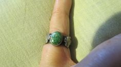 Vintage Native American Indian Sterling and Turquoise Ring OLD PAWN from 2271668 on Ruby Lane