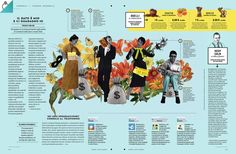 Editorial digital collage illustration for Wired Magazine Italia´s Economix section. Yearbook Spreads, Yearbook Covers, Yearbook Layouts, Yearbook Design, Yearbook Theme, Layout Design, Design Art, Graphic Design, Editorial Layout