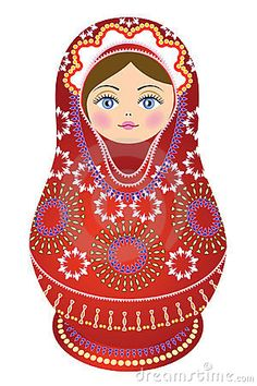 Illustration about Russian Doll red, ethnic clothes, likable nest-doll. Illustration of girl, traditions, nice - 23529360 Matryoshka Doll, Kokeshi Dolls, Felt Dolls, Paper Dolls, Russian Folk, Wooden Dolls, Doll Face, Doll Patterns, Bunt