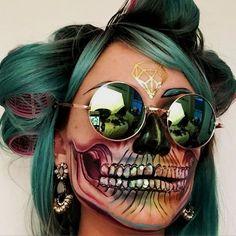Makeup artist Vanessa Davis incredible skull-inspired looks