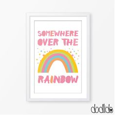 Nursery postersomewhere over the rainbow posterkids by Dodlido