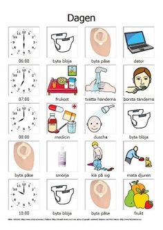 Blomstervägen: Hjälpmedel Learn Swedish, Swedish Language, Delena, Pictogram, Autism, Tisdag, Former, Ads, Learning